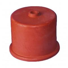 Gistkap rubber nr. 4, 40mm, met 9mm gat
