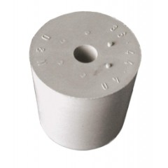 Rubber stop grijs D65/56 met gat 17mm