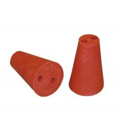 Rubber stop rood 35/60mm + 2x10 mm gaten