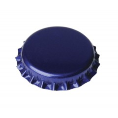 Kroonkurken 26 mm blauw 100 st.