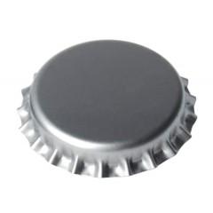 Kroonkurken 26 mm zilver 100 st.