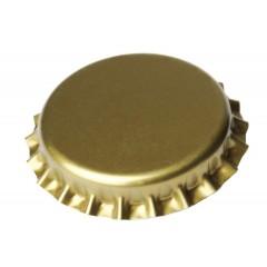 Kroonkurken 29 mm goud - geschuimde inlage - 100 st.