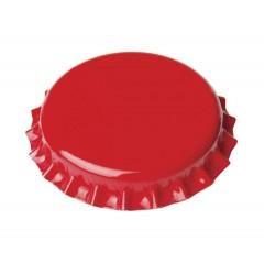 Kroonkurken 29 mm rood - geschuimde inlage - 100 st.