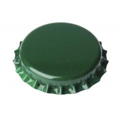 Kroonkurken 29 mm groen - geschuimde inlage - 100 st.