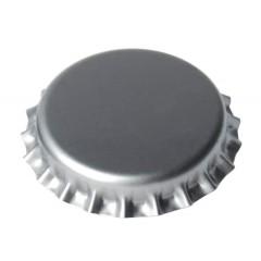Kroonkurken 29 mm zilver - geschuimde inlage - 100 st.