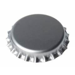 Kroonkurken 29 mm zilver - geschuimde inlage - 1.000 st.