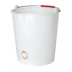 Emmer wit 14 liter zonder deksel + giettuit
