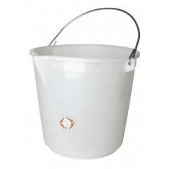 Emmer wit 25 liter zonder deksel + giettuit