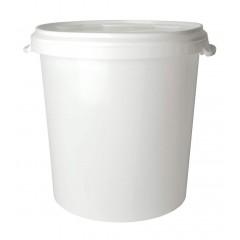 Emmer wit 30 liter met deksel
