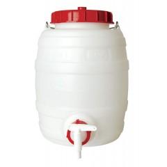 Gistvat kunststof rond  met deksel  en kraan 10 liter