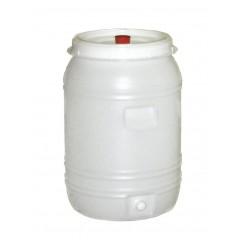 Vat plastic rond met kraan en waterslot 60 liter