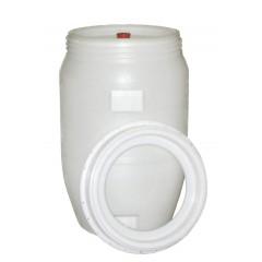 Vat plastic rond met kraan en waterslot 120 liter