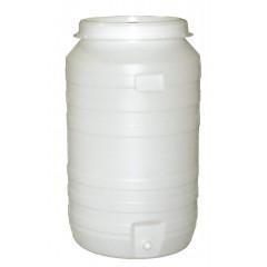 Vat plastic rond met kraan en waterslot 210 liter