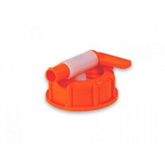 Aftapkraan kunststof oranje voor hoekige vaten 60-500 l