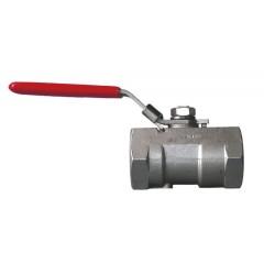Bolkraan inox 1/2 inch V/V recht