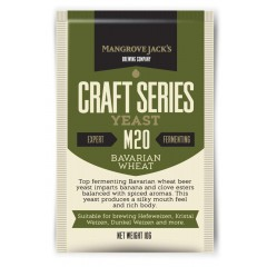 Gedroogde biergist Bavarian Wheat M20 – Mangrove Jacks Craft Series - 10 g