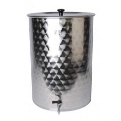 Filterkuip inox  55 liter met kraan en filterbodem 1,5mm