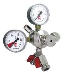CO2-drukregelaar 3 bar met 2 uitgangen