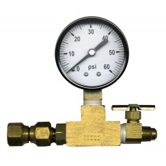 Bleeder valve + manometer voor soda-keg