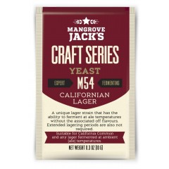 Gedroogde biergist Californian Lager M54 - Mangrove Jack's Craft Series - 10 g