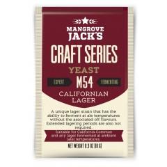 Gedroogde biergist Californian Lager M54 - Mangrove Jack's Craft Series - 10 g