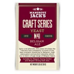 Gedroogde biergist Belgian Ale M41 - Mangrove Jack's Craft Series - 10 g