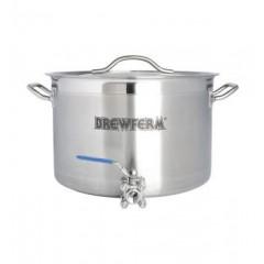 Brewferm brouwketel RVS 25 liter met bolkraan (36 x 24 cm)