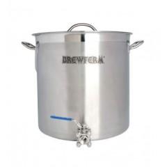 Brewferm brouwketel RVS 35 liter met bolkraan (36 x 36 cm)