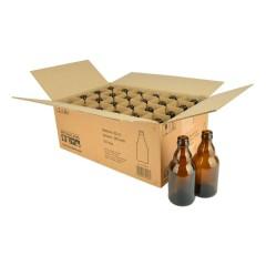 Bierfles STEINIE 33 cl, bruin, 26 mm, doos 24 stuks