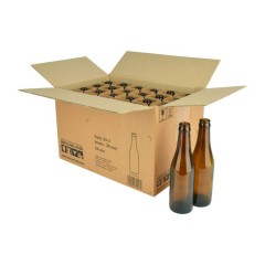 Bierfles VICHY 33 cl, bruin, 26 mm, doos 24 stuks