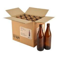 Bierfles NRW 50 cl, bruin, 26 mm, doos 12 stuks
