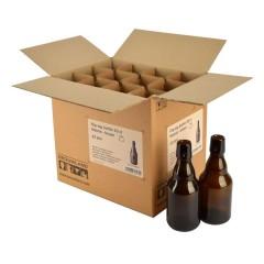 Beugelfles 33 cl Steinie bruin, zonder beugel, doos 12 stuks