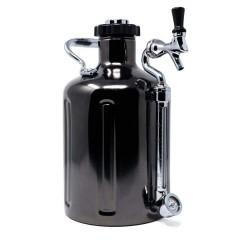 GrowlerWerks uKeg 128 zwart chroom - 3,8 l