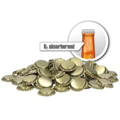 Kroonkurken 26 mm O2 absorberend goud 100 st.