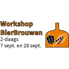 Workshop Bierbrouwen 2-daags 7-sept en 28-sept.